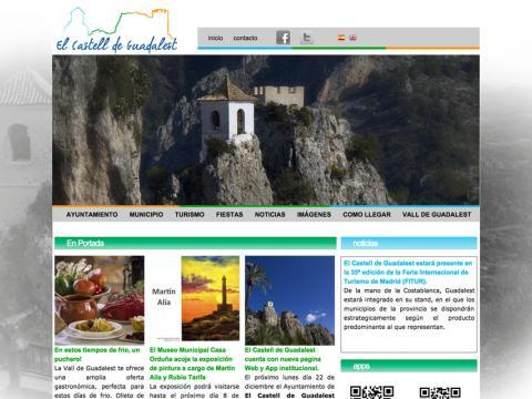 Web del Ayuntamiento de Guadalest